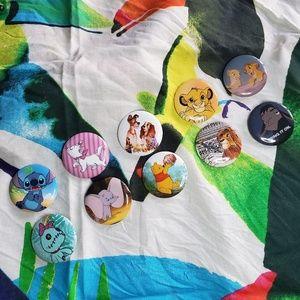 Disney animal friends buttons